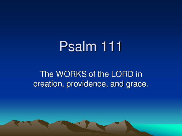 Psalm111